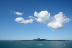 Rangitoto island volcano Stock Photography