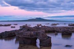 Rangitoto wyspy wulkan Auckland Nowa Zelandia zdjęcie royalty free