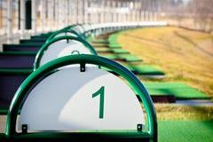 Rango de conducción del golf Imagen de archivo libre de regalías