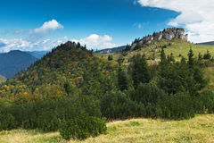 Rango de montaña cárpato Velka Fatra imagen de archivo