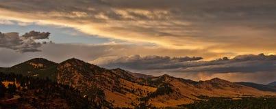 Rango de montaña de Boulder Colorado Imagen de archivo