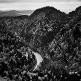 Rango de montaña de Pieniny Imagen de archivo libre de regalías
