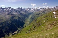 Rango de montaña de Silvretta Imagen de archivo libre de regalías