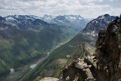 Rango de montaña de Silvretta Fotos de archivo