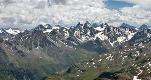Rango de montaña de Silvretta en verano Imagenes de archivo
