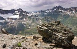 Rango de montaña de Silvretta en verano Foto de archivo