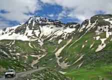 Rango de montaña Himalayan cerca del paso de Rohtang, kullu la India Foto de archivo libre de regalías