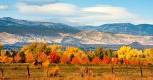 Rango delantero de Colorado del otoño Foto de archivo libre de regalías