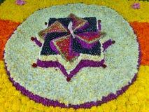 Rangoli λουλουδιών Onam Στοκ φωτογραφία με δικαίωμα ελεύθερης χρήσης