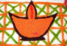 Rangoli лампы & x28; diya& x29; Стоковые Изображения RF