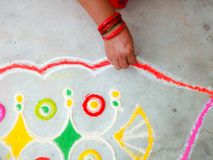Rangoli Foto de Stock Royalty Free