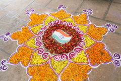 Rangoli Stockfotos