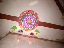Rangoli Photographie stock