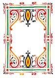 Rangoli border. Traditional rangoli border design illustration stock illustration