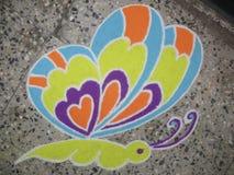 Rangoli coloré Images libres de droits