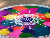 Rangoli colorful Stock Photography