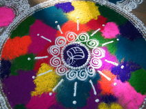 Rangoli colorido Foto de Stock