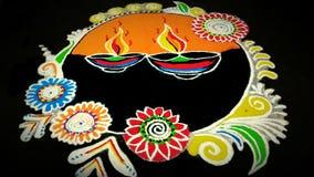 Rangoli colorido hermoso Imágenes de archivo libres de regalías