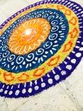 Rangoli-A Colourful Entrance royalty free stock photo