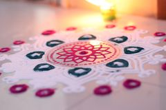 Rangoli decoration. Rangoli festival of light diwali decoration Royalty Free Stock Image
