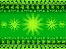 Rangoli design. Indian festival illustration with flower and rangoli on green colour background vector illustration