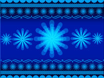 Rangoli design. Indian festival illustration with flower and rangoli on blue colour background royalty free illustration