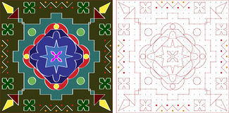 Rangoli Design Royalty Free Stock Photos