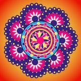 Rangoli design indisk prydnad Royaltyfria Bilder