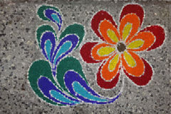 Rangoli during Diwali festival, Maharashtra, India. Colorful Rangoli during Diwali festival, Maharashtra, India Royalty Free Stock Image