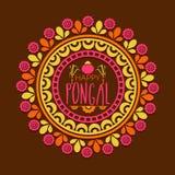 Rangoli floral para la celebración feliz de Pongal Fotografía de archivo
