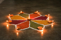 Rangoli indien Images stock