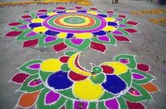 Rangoli making at pushkar fair