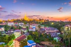 Rangoon, pagoda del Myanmar fotografie stock libere da diritti