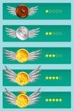 Rangordna emblemillustrationen Fotografering för Bildbyråer