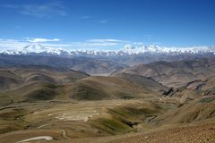 Rangos de montaña de Himalaya imagen de archivo