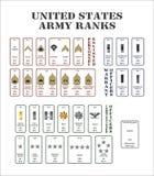 Rangs de l'armée américaine illustration libre de droits