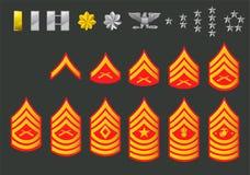 Rangs de l'armée américaine illustration de vecteur