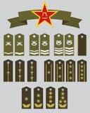 Rangs militaires et étoile de CPA Photos stock