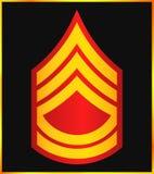 Rangs militaires et insignes Rayures et chevrons d'armée Photographie stock