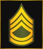 Rangs militaires et insignes Rayures et chevrons d'armée Photos stock
