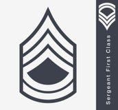 Rangs militaires et insignes Rayures et chevrons d'armée Image stock