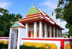 Rangsit temple. With blue sky , Phathumtani Thailand Stock Image