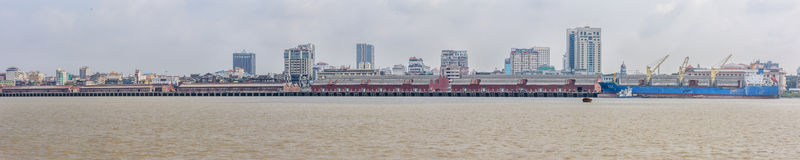 Rangun-Hafen Stockfoto