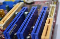 Ranhura para cartão da memória do cartão eletrônico do PC Imagem de Stock Royalty Free