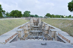 'Rani-ki-Vav', een 11de eeuw stepwell in Gujarat, is goedgekeurd als Plaats van de Werelderfenis royalty-vrije stock foto