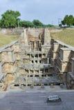 'Rani-ki-Vav', ein stepwell des 11. Jahrhunderts in Gujarat, ist als Welterbestätte genehmigt worden Stockbild
