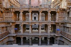 Rani ki vav, an stepwell on the banks of Saraswati River in Patan. A UNESCO world heritage site in India stock photos