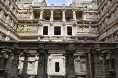 'Rani-ki-Vav', 11th wieka stepwell w Gujarat, zatwierdzał jako światowego dziedzictwa miejsce Obrazy Stock