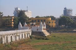 Rani Pokhari βασίλισσες Pond Kathmandu Νεπάλ στοκ φωτογραφία