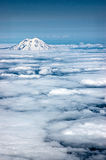 Ranier. Aerial view of Mount Ranier royalty free stock photos